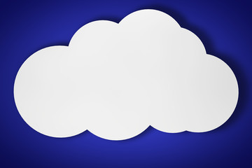 3d cloud on a blue background