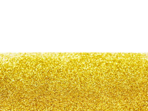 Yellow glitter for background