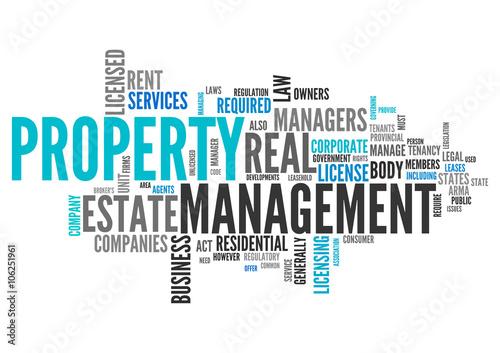 word cloud property management stockfotos und lizenzfreie bilder auf bild 106251961. Black Bedroom Furniture Sets. Home Design Ideas