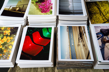 Stacked photo prints