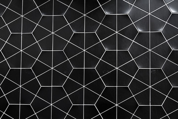 Hexagonal ceramic wall pattern background