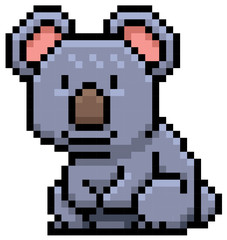 Vector illustration of Koala Bear - Pixel design