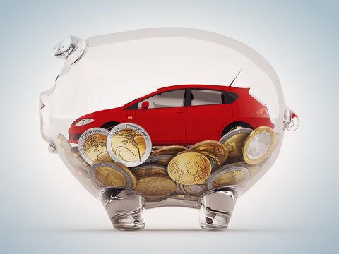 Savings to buy the car