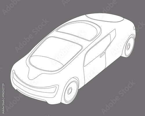 Line Drawing Car : Futuristic design vehicle future car line drawing illustration