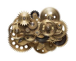 Fototapete - clockwork gear mechanism