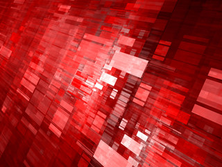 Red flying rectangles abstract background