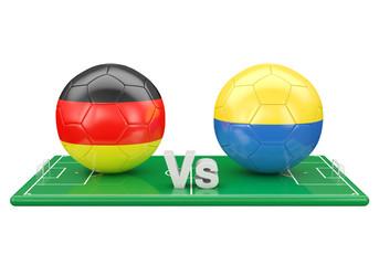 Germany / Ukraine soccer game over soccer field