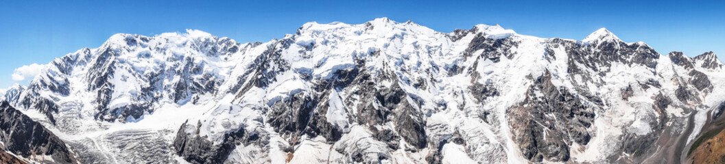 The highest mountain massif  of the Caucasus, the so-called Bezengi wall