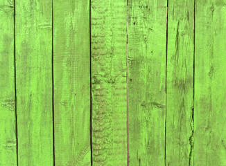 green weathered wooden fence background.