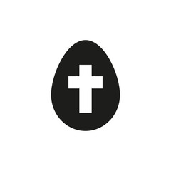 The egg icon. Easter symbol