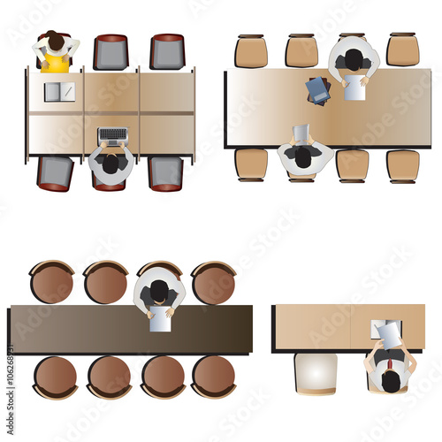 Quot Furniture Top View Set 46 For Interior Vector