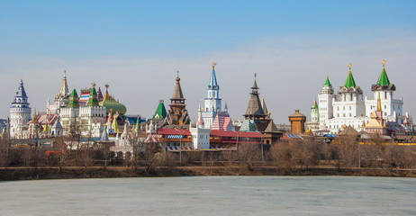View of the Izmailovo Kremlin in Moscow