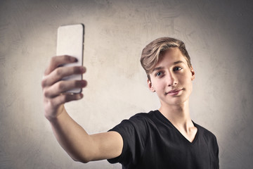 Teenager doing a selfie