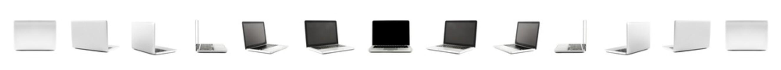 Fototapeta Collection of High definition views of a design laptop obraz