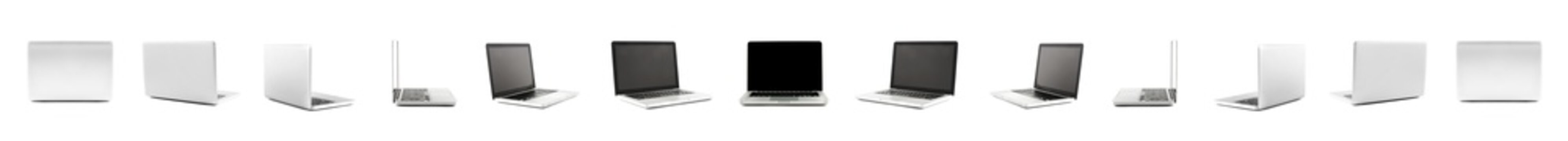 Collection of High definition views of a design laptop