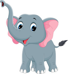 Vector illustration of cute elephant cartoon