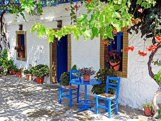 Shady place in Greece