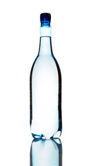 Bottle of water isolated on a white background