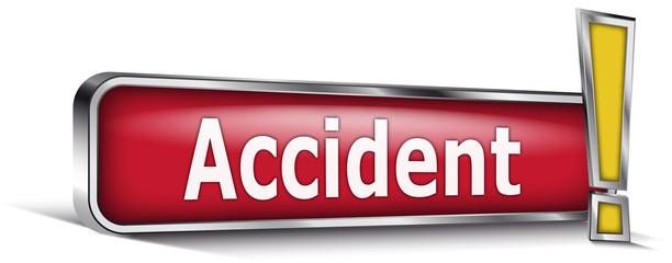 Accident sur panneau rouge