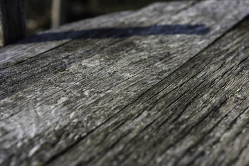 Old weathered wooden planks close-up background