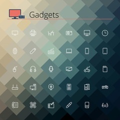 Gadgets Line Icons