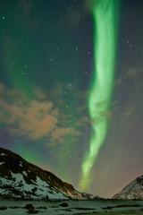 Nordlichter am Himmel