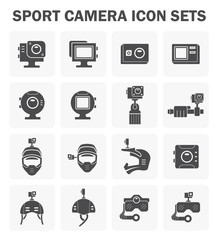 Sport camera icons