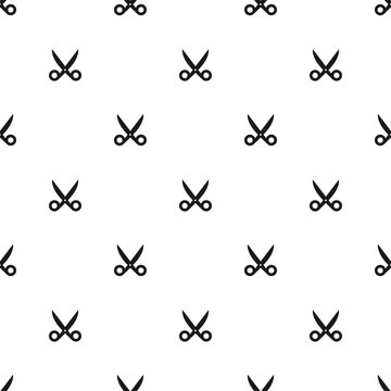 Seamless Scissors Silhouette Pattern