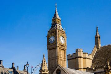 Big Ben clock tower London, horizontal