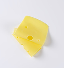 Swiss cheese slices
