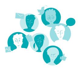 Rete sociale, community e contatti