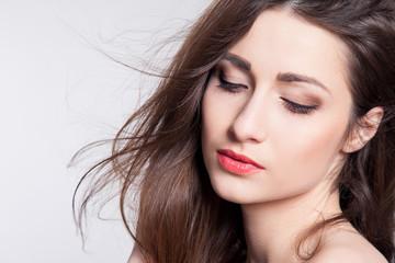 makeup beautiful girl model