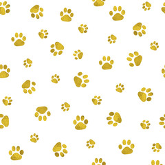 Seamless background with cat paw print.