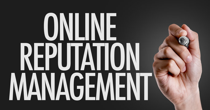 Hand writing the text: Online Reputation Management