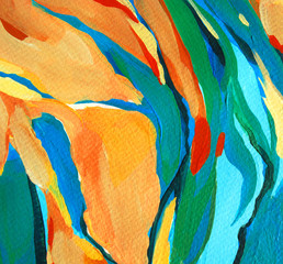 decorative abstract painting, illustration,water-colour