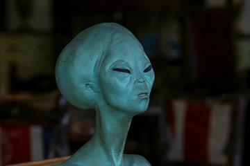 Model head of alien.