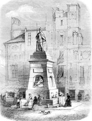 Fountain of Old-Man Fuente del Viejo, on the Rambla in Barcelona