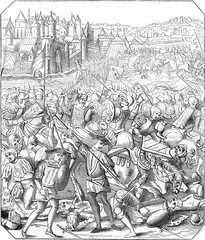 Battle of Nancy, Print the eighteenth century, according to a mi