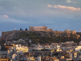 L'Acropole et Athènes, Grèce, Europe