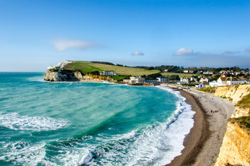 Freshwater Bay and Tennyson Down on the Isle of Wight, UK Fototapete