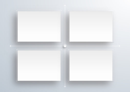 Crystal White Labels #Scatter plot_Vector Background