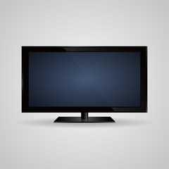 TV screen lcd, plasma realistic vector illustration
