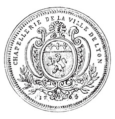 Token hatters of the corporation of the city of Lyon in the eigh
