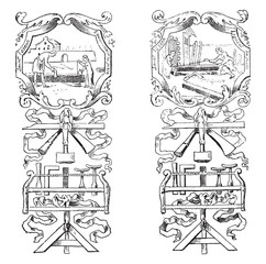 Fragments of an image of the Brotherhood of Carpenters Paris in