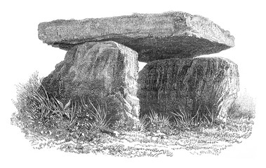 Dolmen discovered in Africa, in the valley of El Arouna, Kabylia