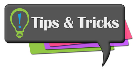 Tips And Tricks Dark Colorful Comment Symbol
