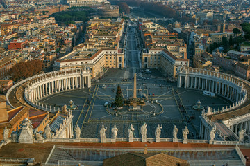 Wall Mural - Vatican City and Rome, Italy. St. Peter's Square