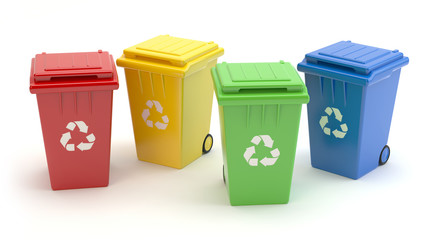 Recycle bins 3D