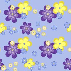blue flowers.seamless pattern