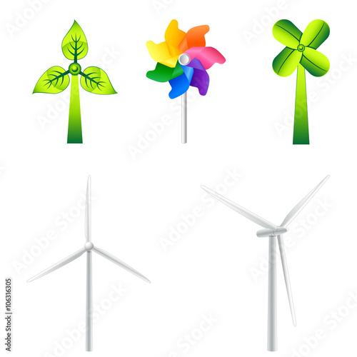 """windkraftrad windrad  icon set"" stockfotos und"